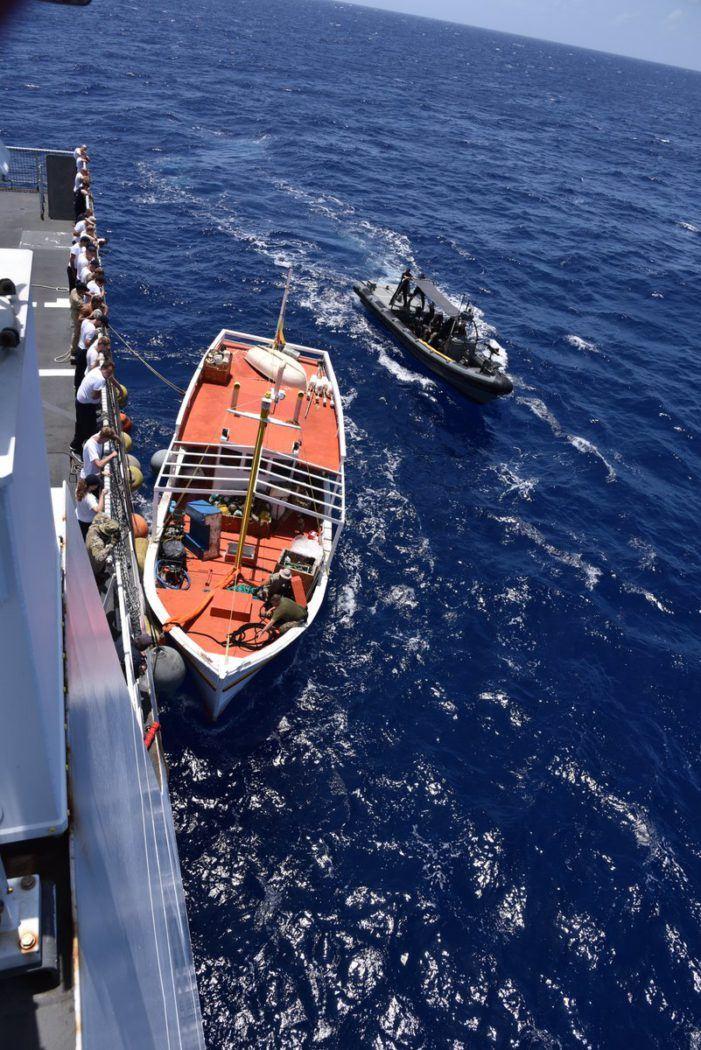Weer kilo's coke onderschept door marine