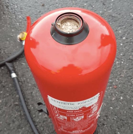 Heroïne in brandblussers