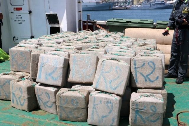 Nederlandse viskotter met 10 ton hasj gepakt