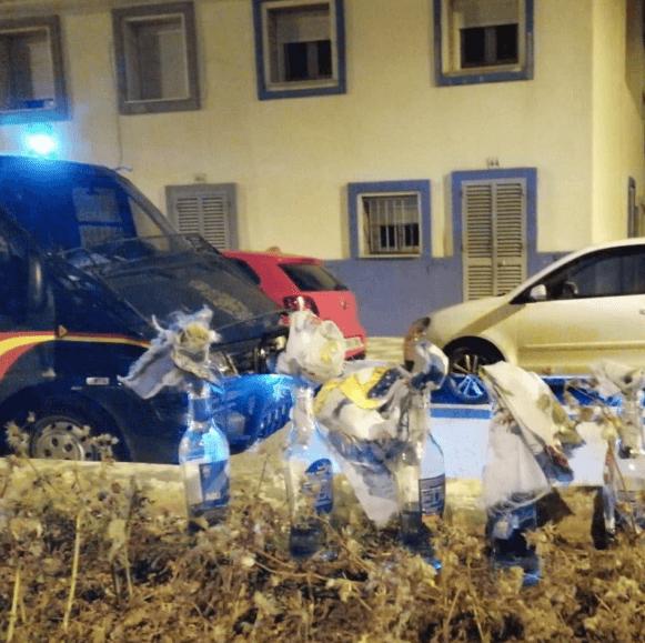 Spaanse politie loopt in hinderlaag