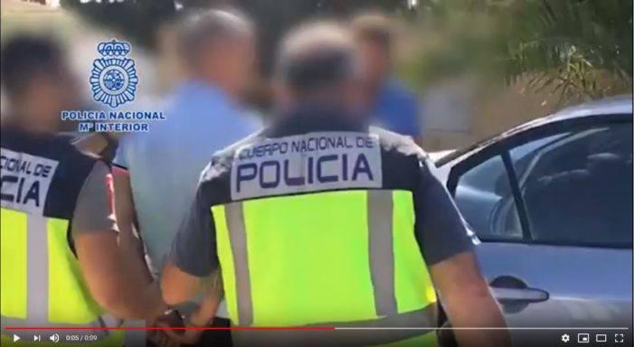 Arrestatie Donald G. bij zijn Spaanse villa (VIDEO)