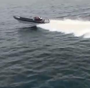 Arrestaties na achtervolging drugsboot Spanje (VIDEO)