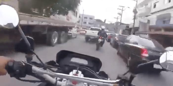 Braziliaanse politieachtervolging gefilmd met bodycam