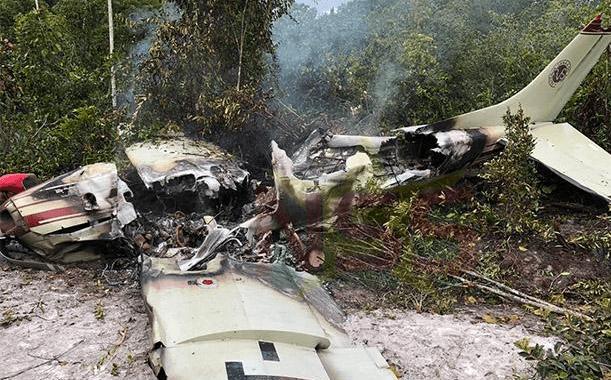 Drugsvliegtuigje neergestort in Suriname