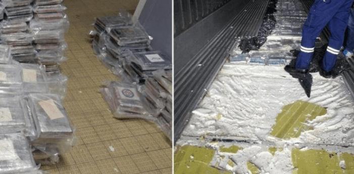 Bijna 500 kilo Surinaamse cocaïne in Duinkerken gepakt