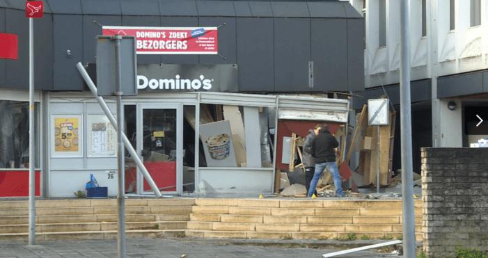 Zware beschadiging na plofkraak in Lelystad (UPDATE)