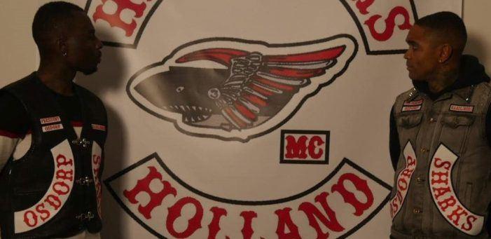 Rappers Rick Versace en MF Juice lid van motorclub Hardliners MC
