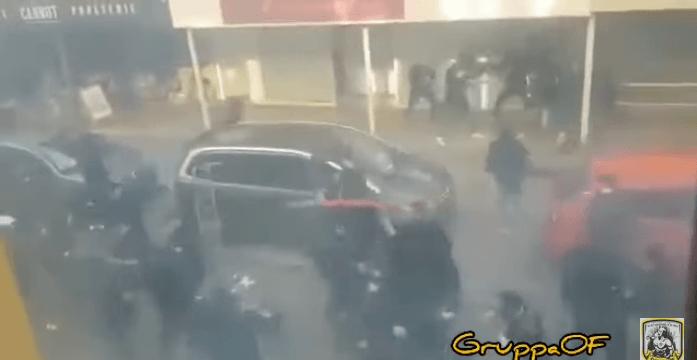 Zes gewonden bij rellen in Frankrijk met FC Utrecht-hooligans (VIDEO)