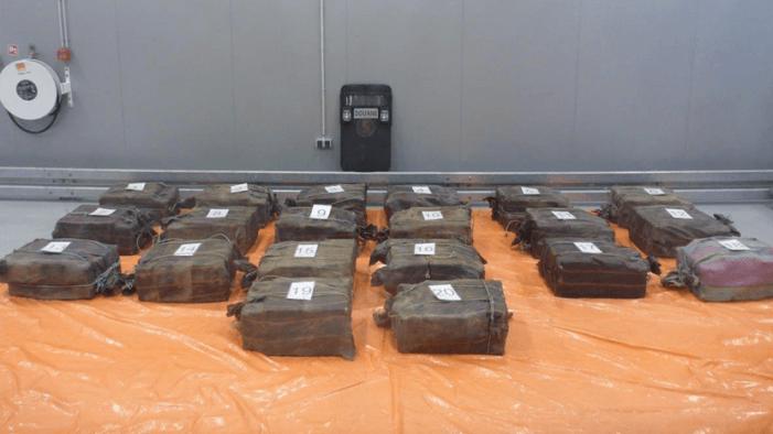 Meer dan een ton cocaïne onderschept