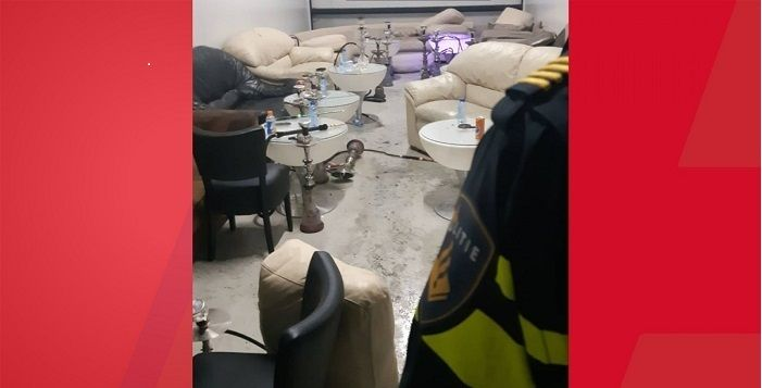 Inval illegale shishalounge in garagebox (VIDEO)