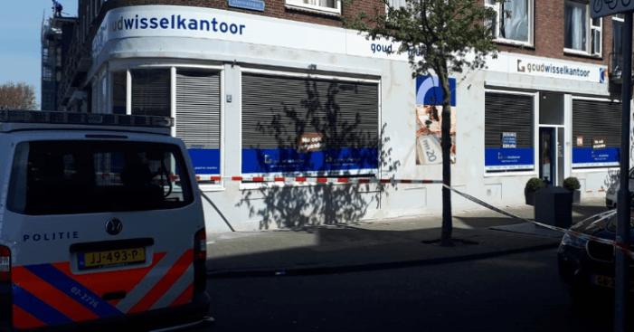 Waarschuwingsschoten na overval goudwisselkantoor Rotterdam