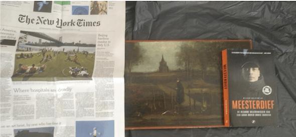 Okkie schrok zich rot van foto Van Gogh