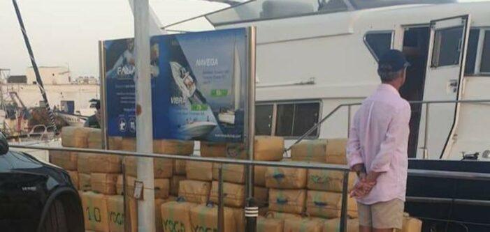 Drie ton hasj op pleziervaartuig aan de Costa