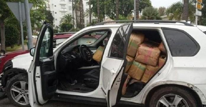 Gecrasht voertuig in Zuid-Spanje volgeladen met hasj