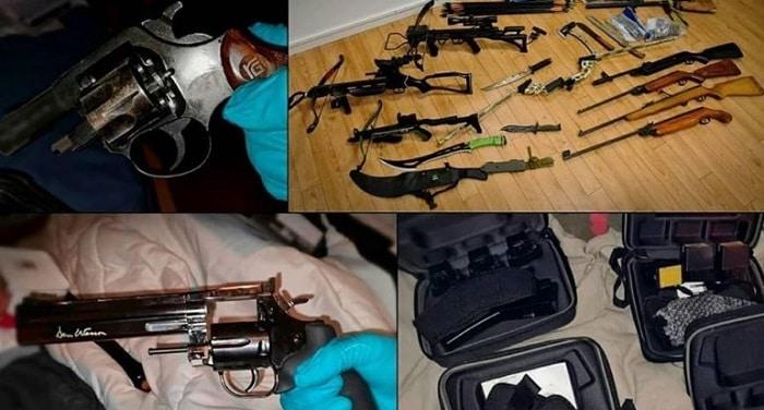 Vuurwapens, munitie, vuurwerk en vier arrestaties in Rotterdamse woning