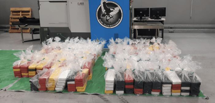 1.064 kilo cocaïne onderschept in Rotterdamse haven