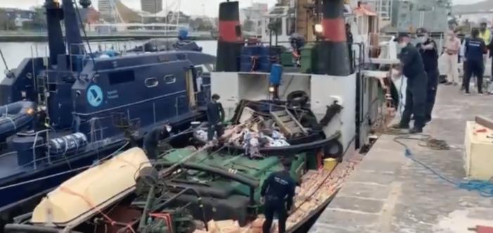 """'15 ton hasj op """"Nederlandse"""" sleepboot bij Canarische Eilanden' (VIDEO)"""