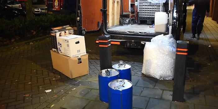 Drugsolie leidt naar amfetaminelab in Tilburgse flat