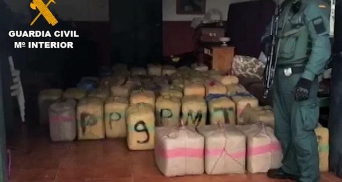 3.150 kilo hasj en 36 arrestaties in Málaga en Cadiz