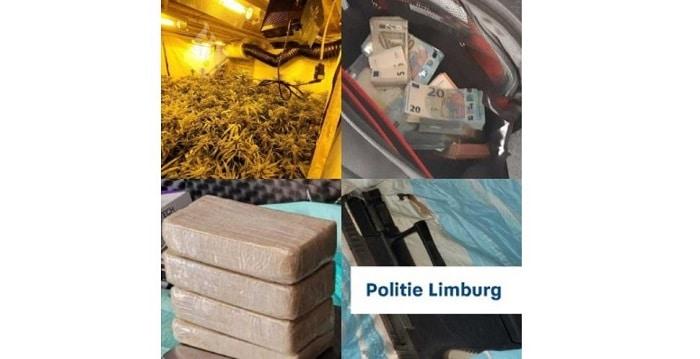 Drie arrestaties, zes ton cash, harddrugs, wiet en vuurwapens in Limburg