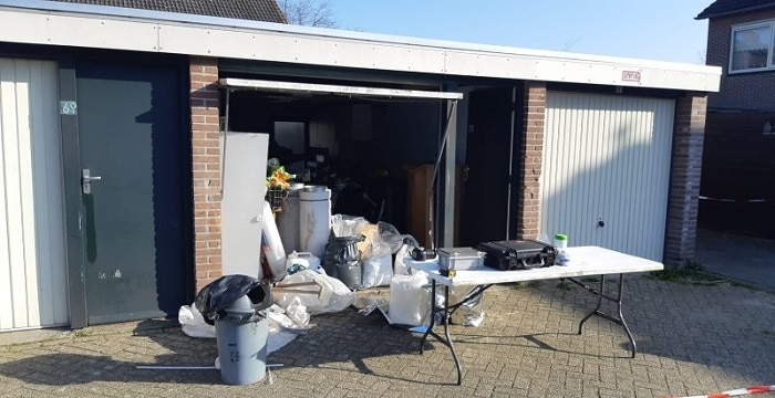 Crystal methlab ontdekt in garagebox Brabants dorp (UPDATE)