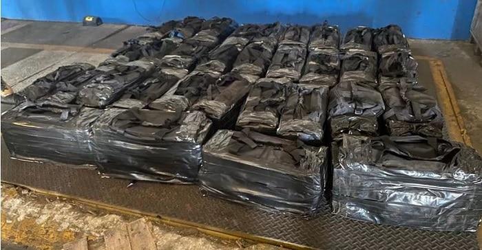 1,1 ton cocaïne in Brazilië voor haven Antwerpen onderschept