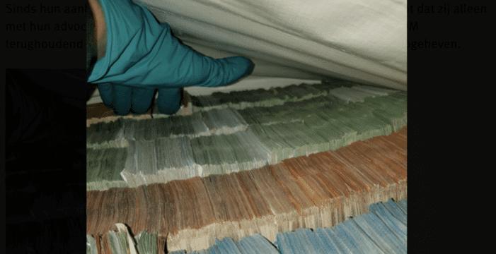 Zeven verdachten cocaïnewasserij voor drie maanden vastgezet