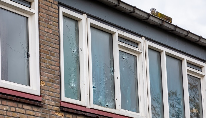 Woning beschoten in Rotterdam-Charlois