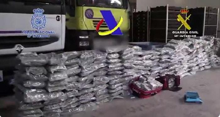 65 arrestaties en 12 ton hasj in Spanje