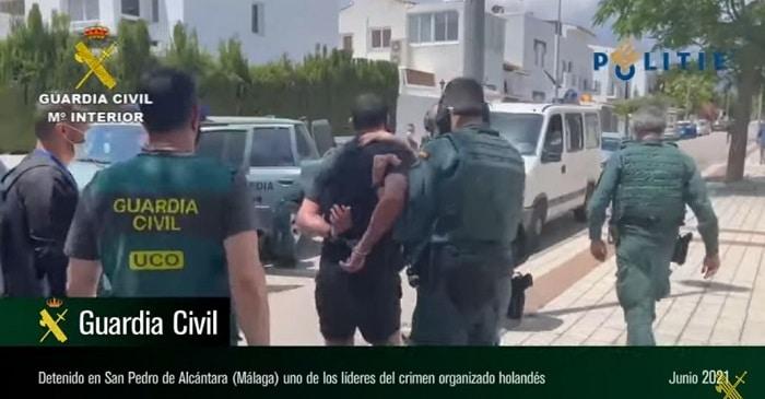 Spaanse politie geeft beelden vrij van arrestatie Noureddine H. (VIDEO)