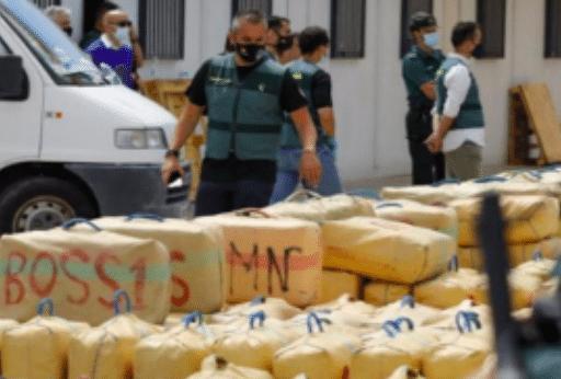 Spanje onderschept 15.000 kg Marokkaanse hasj