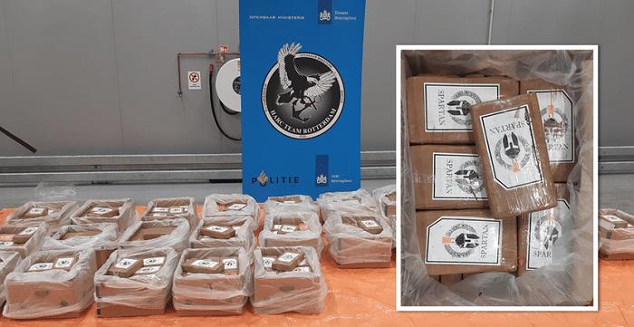 500 kilo cocaïne tussen bananen in Rotterdamse haven