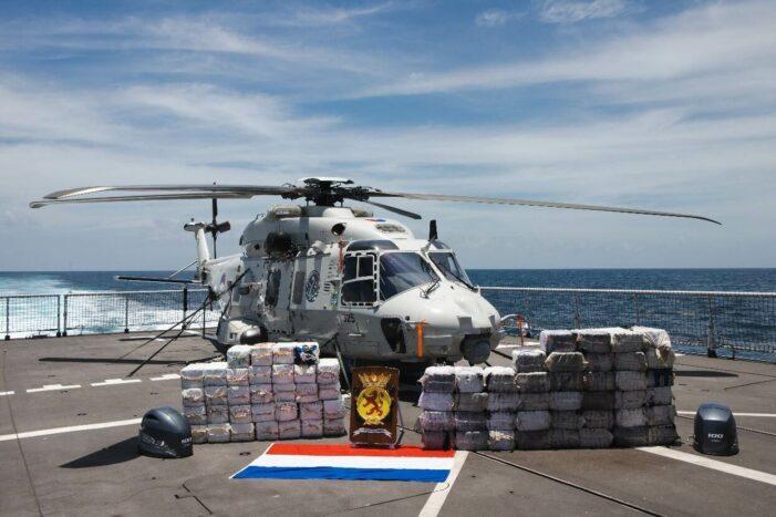 Vóór Haïti pakte marineschip nog 2,1 ton cocaïne