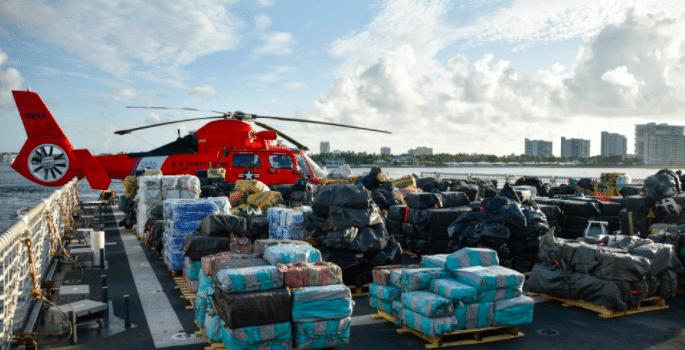 Amerikaanse kustwacht onderschept coke ter waarde van 1,5 miljard dollar