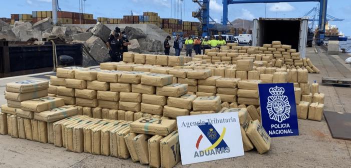 20 ton hasj gepakt bij Canarische Eilanden (VIDEO)