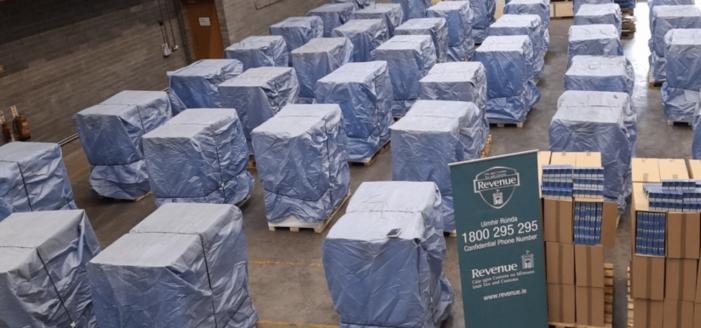 Miljoenen sigaretten uit Rotterdam gepakt in Dublin
