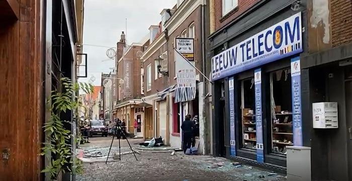 Hek politiebureau Alkmaar gesaboteerd tijdens plofkraak